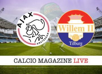 Ajax Willem II cronaca diretta live risultato in tempo reale