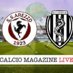 Arezzo Cesena cronaca diretta live risultato in tempo reale