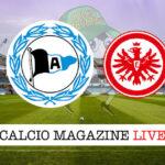 Arminia Bielefeld Eintracht Francoforte cronaca diretta live risultato in tempo reale