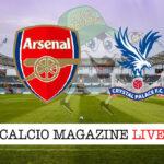 Arsenal Cystal Palace cronaca diretta live risultato in tempo reale