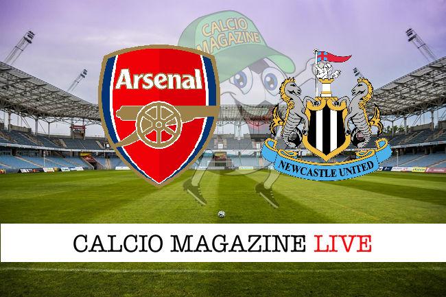 Arsenal Newcastle cronaca diretta live risultato in tempo reale