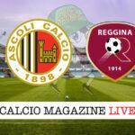 Ascoli Reggina cronaca diretta live risultato in tempo reale