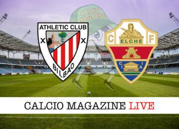 Athletic Bilbao Elche cronaca diretta live risultato in tempo reale