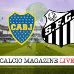 Boca Juniors Santos cronaca diretta live risultato in tempo reale