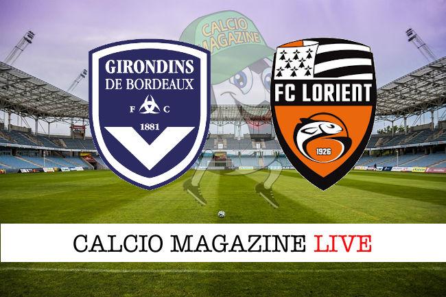 Bordeaux Lorient cronaca diretta live risultato in tempo reale