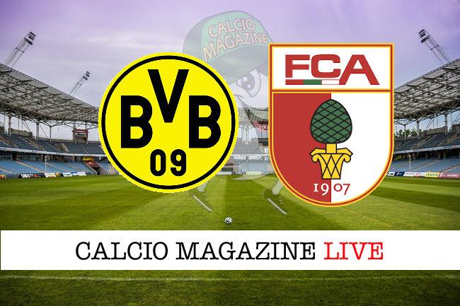 Borussia Dortmund Augusta cronaca diretta live risultato in tempo reale
