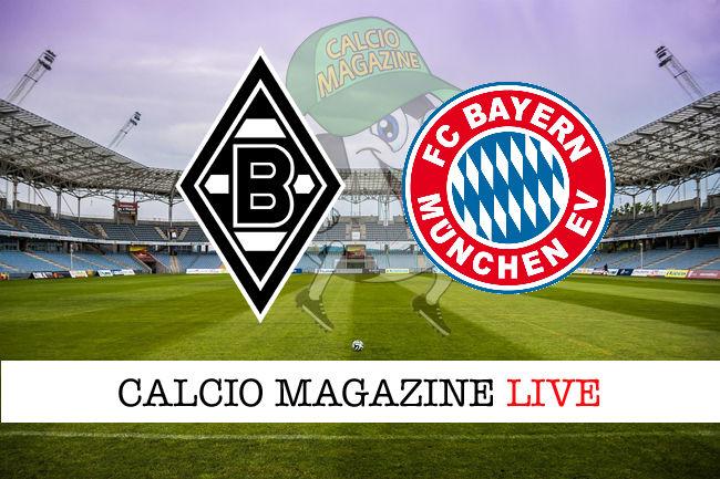 Borussia Monchengladbach Bayern Monaco cronaca diretta live risultato in tempo reale