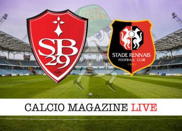 Brest Rennes cronaca diretta live risultato in tempo reale