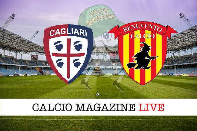 Cagliari Benevento cronaca diretta live risultato in tempo reale