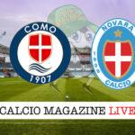 Como Novara cronaca diretta live risultato in tempo reale