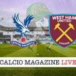 Crystal Palace West Ham cronaca diretta live risultato in tempo reale