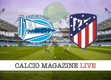 Deportivo Alaves Atletico Madrid cronaca diretta live risultato in tempo reale