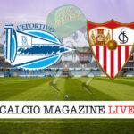 Deportivo Alaves Siviglia cronaca diretta live risultato in tempo reale