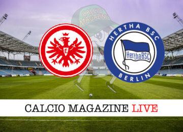 Eintracht Francoforte Hertha Berlino cronaca diretta live risultato in tempo reale