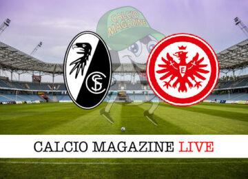 Friburgo Eintracht Francoforte cronaca diretta live risultato in tempo reale