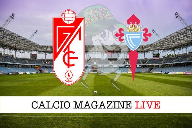 Granada Celta Vigo cronaca diretta live risultato in tempo reale