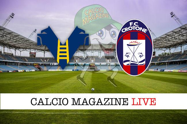 Hellas Verona Crotone cronaca diretta live risultato in tempo reale