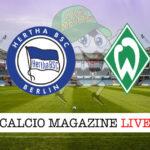 Hertha Berlino Werder Brema cronaca diretta live risultato in tempo reale
