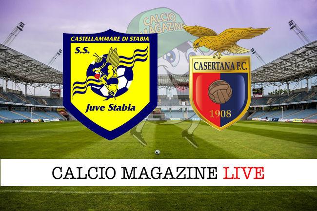 Juve Stabia Casertana cronaca diretta live risultato in tempo reale