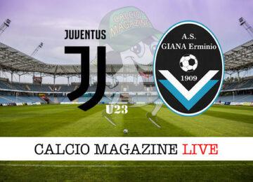 Juventus u23 Giana Erminio cronaca diretta live risultato in tempo reale