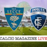 Lecce Empoli cronaca diretta live risultato in tempo reale