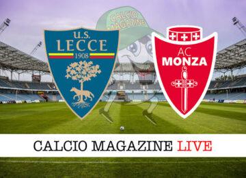Lecce Monza cronaca diretta live risultato in tempo reale