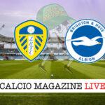 Leeds Brighton cronaca diretta live risultato in tempo reale