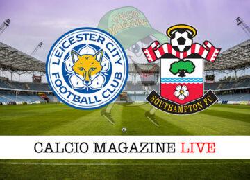 Leicester Southampton cronaca diretta live risultato in tempo reale