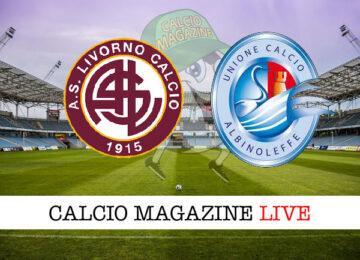 Livorno Albinoleffe cronaca diretta live risultato in tempo reale