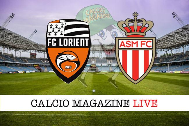 Lorient Monaco cronaca diretta live risultato in tempo reale