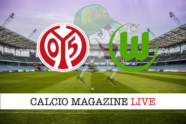 Mainz 05 Wolfsburg cronaca diretta live risultato in tempo reale