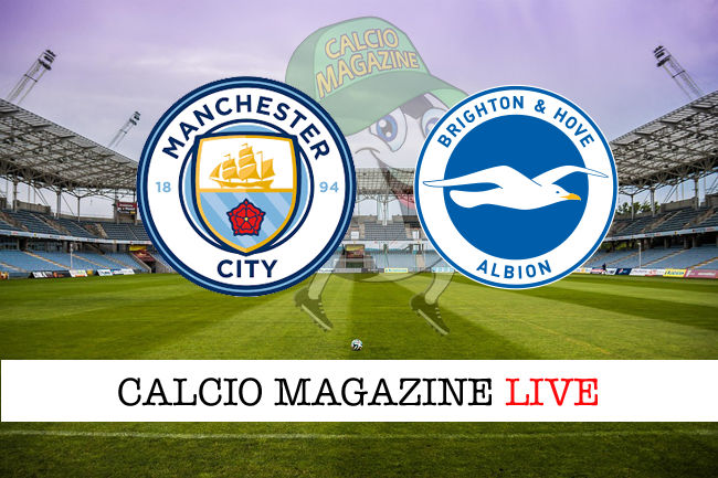 Manchester City Brighton cronaca diretta live risultato in tempo reale