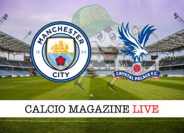 Manchester City Crystal Palace cronaca diretta live risultato in tempo reale