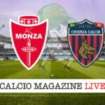 Monza Cosenza cronaca diretta live risultato in tempo reale
