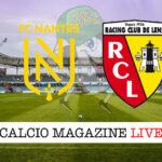 Nantes RC Lens cronaca diretta live risultato in tempo reale