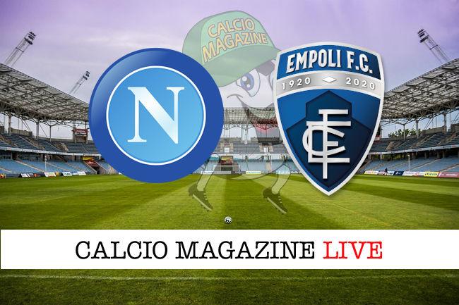 Napoli Empoli cronaca diretta live risultato in tempo reale