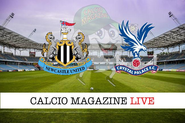 Newcastle Crystal Palace cronaca diretta live risultato in tempo reale
