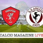 Perugia Arezzo cronaca diretta live risultato in tempo reale