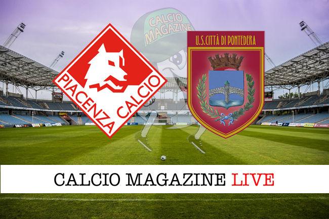 Piacenza Pontedera cronaca diretta live risultato in tempo reale