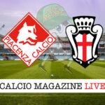 Piacenza Pro Vercelli cronaca diretta live risultato in tempo reale