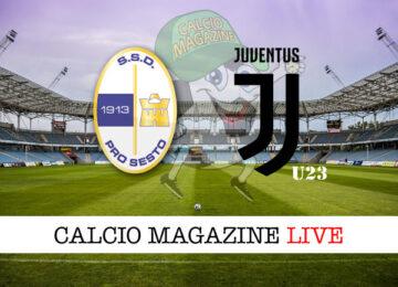 Pro Sesto Juventus U23 cronaca diretta live risultato in tempo reale