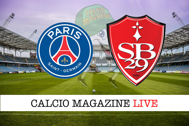 PSG Brest cronaca diretta live risultato in tempo reale