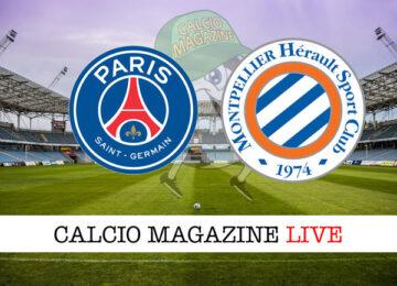 PSG Montpellier cronaca diretta live risultato in tempo reale