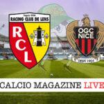 RB Lens Nizza cronaca diretta live risultato in tempo reale