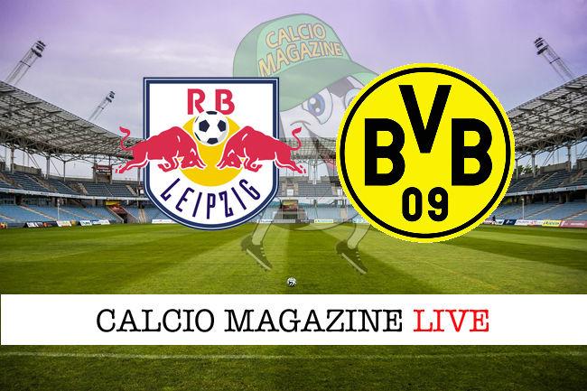 RB Lipsia Borussia Dortmund cronaca diretta live risultato in tempo reale