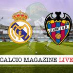 Real Madrid Levante cronaca diretta live risultato in tempo reale