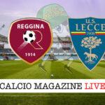 Reggina Lecce cronaca diretta live risultato in tempo reale