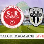 Reims Angers cronaca diretta live risultato in tempo reale