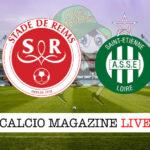 Reims St Etienne cronaca diretta live risultato in tempo reale