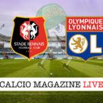 Rennes Lione cronaca diretta live risultato in tempo reale